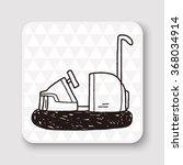 bumper car doodle | Shutterstock .eps vector #368034914
