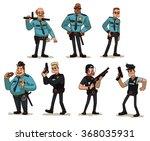vector cartoon image of a set... | Shutterstock .eps vector #368035931
