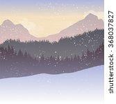 mountain landscape with fir... | Shutterstock .eps vector #368037827