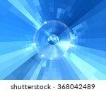 Abstract Blue Futuristic ...