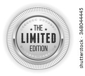 silver limited edition badge on ... | Shutterstock .eps vector #368044445