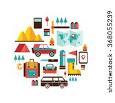 tourism and travel set of... | Shutterstock .eps vector #368055239