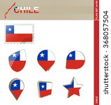 chile flag set  flag set 100.  | Shutterstock . vector #368057504