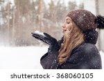Girl Outdoor Portrait. Winter...