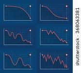 decreasing graph. crisis or... | Shutterstock .eps vector #368063381