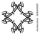 tribal tattoo vector design... | Shutterstock .eps vector #368063609