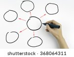 hand with marker writing... | Shutterstock . vector #368064311