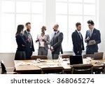 business people meeting... | Shutterstock . vector #368065274