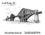 firth of forth cantilever... | Shutterstock .eps vector #368068094