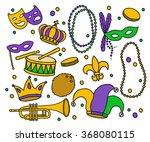 doodle icons. mardi gras...   Shutterstock .eps vector #368080115
