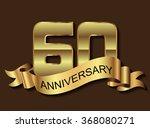 60 anniversary template design... | Shutterstock .eps vector #368080271