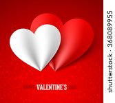 happy valentine's day card... | Shutterstock .eps vector #368089955