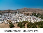 panoramic view of lindos  greece | Shutterstock . vector #368091191