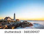 portland head lighthouse at... | Shutterstock . vector #368100437