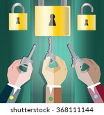 unlock to the success of the... | Shutterstock .eps vector #368111144