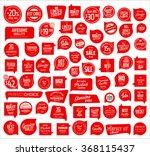 premium quality retro red badge ... | Shutterstock .eps vector #368115437