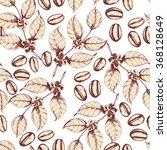 seamless coffee background with ...   Shutterstock .eps vector #368128649