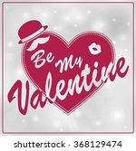 valentine's day poster... | Shutterstock .eps vector #368129474