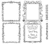 set of party frames for kids | Shutterstock .eps vector #368131031