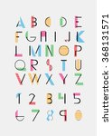color alphabetic fonts and... | Shutterstock .eps vector #368131571