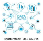 data analytics network... | Shutterstock .eps vector #368132645