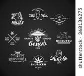 set of japan ninjas logo.... | Shutterstock .eps vector #368136275