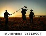 camera crew in action | Shutterstock . vector #368139077