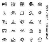 franchise line icons on white... | Shutterstock .eps vector #368141231