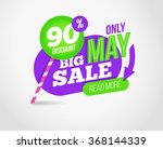 big sale promotion banner with... | Shutterstock .eps vector #368144339
