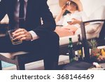 gentleman drinking whiskey when ... | Shutterstock . vector #368146469