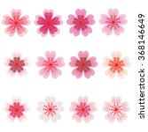 sakura blossom icon set | Shutterstock .eps vector #368146649