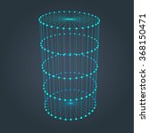 wire frame cylinder. connected... | Shutterstock .eps vector #368150471