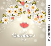 valentines invitation with... | Shutterstock .eps vector #368150861