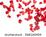 Stock photo rose petals isolated on white background 368160404