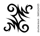 tattoo tribal vector design.... | Shutterstock .eps vector #368162435