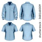 men's button down shirt long... | Shutterstock .eps vector #368168309