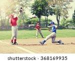 boy sliding into base during a... | Shutterstock . vector #368169935