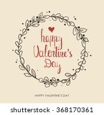 valentines day greeting card.... | Shutterstock .eps vector #368170361