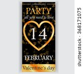 valentine's day party flyer... | Shutterstock .eps vector #368171075