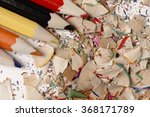 artist mess on the table.... | Shutterstock . vector #368171789