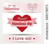 happy valentines day cards with ... | Shutterstock .eps vector #368178071