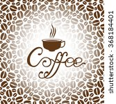 vector illustrations of coffee... | Shutterstock .eps vector #368184401