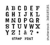 vector alphabet. modern stamps... | Shutterstock .eps vector #368185181