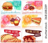 six different discount coupons... | Shutterstock .eps vector #368188289