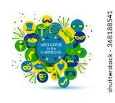 carnival vector illustration.   Shutterstock .eps vector #368188541