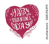 hand sketched valentine's day... | Shutterstock .eps vector #368196395