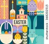 vector easter concept. easter... | Shutterstock .eps vector #368202515
