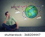young handsome man traveler... | Shutterstock . vector #368204447