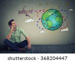 young handsome man traveler... | Shutterstock . vector #368204447