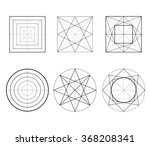 geometric drawing  circle... | Shutterstock .eps vector #368208341